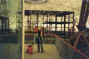 Land Surveyor - during construction of The Millennium Dome
